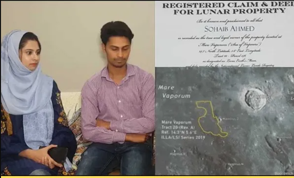 Photo of A Pakistani Man Buys Land On Moon As Wedding Gift for His Wife