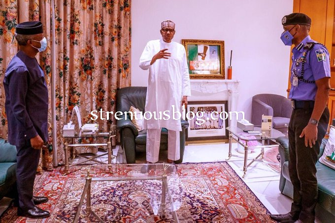 Photo of Buhari reacts to ongoing #EndSars protest