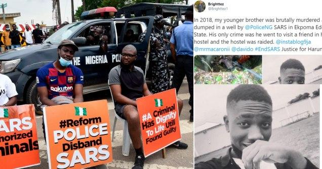 Photo of Man shares sad story of how his brother was killed by SARS officers in 2018